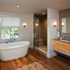 Traditional Bathroom by Ellen Happ Architect
