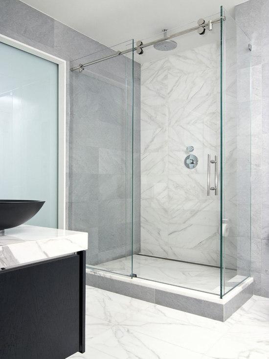 frameless glass shower door | houzz