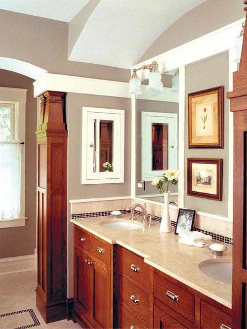 craftsman chicago bathroom design ideas remodels photos. Black Bedroom Furniture Sets. Home Design Ideas