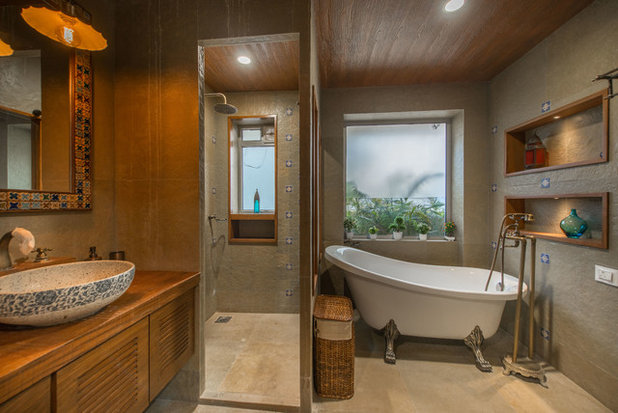 Contemporary Bathroom by Ricken Desai Photography