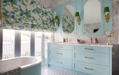 10 Bathrooms With Calming Color Palettes