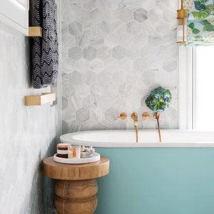 Design ideas for a beach style bathroom in Other.