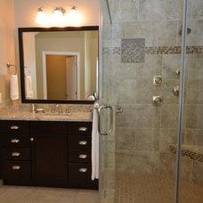 Transitional Bathroom by Summit Design Remodeling, LLC