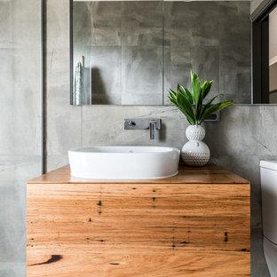 Immagine di una stanza da bagno boho chic