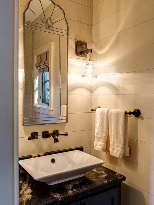 Rustic Bathroom Design Ideas Renovations Photos With Onyx Worktops