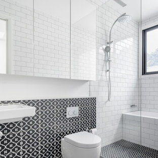 Design ideas for a contemporary bathroom in Sydney.