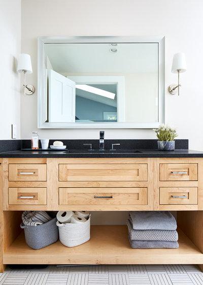 Transitional Bathroom by WINN Design+Build