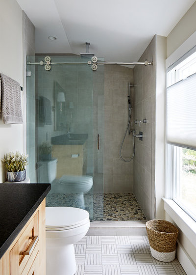 Transitional Bathroom by WINN Design+Build