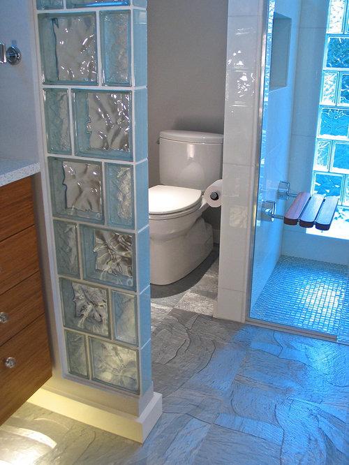 Foto e idee per bagni moderni con pavimento in linoleum for Piastrelle linoleum bagno