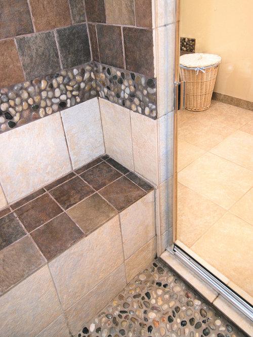 Best river stone tile design ideas remodel pictures houzz for River rock bathroom ideas