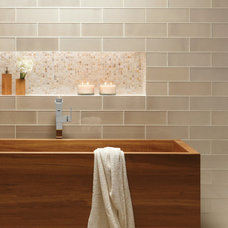 Asian Bathroom by Cercan Tile Inc.