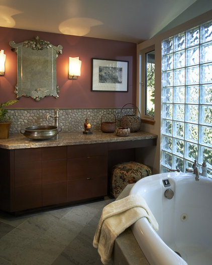 asian bathroom by Harrell Remodeling
