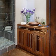 Asian Bathroom by Giffin & Crane General Contractors, Inc.