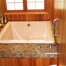 Asian Bathroom by Lang's Kitchen & Bath