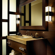 Asian Bathroom by Shuster Design Associates