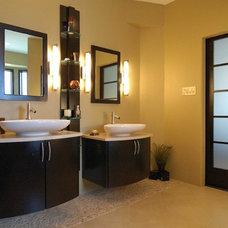 Contemporary Bathroom by Sharon Flatley Design