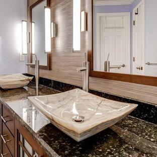 Asiatische Badezimmer mit Granit-Waschbecken/Waschtisch Ideen ...