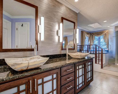 asiatische badezimmer mit keramikboden design ideen