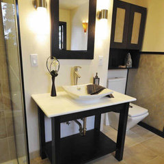 asian bathroom by Grayling Construction