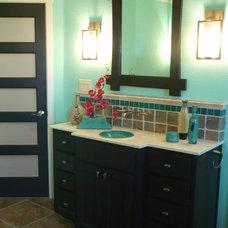 Asian Bathroom by Melinda Miles Interiors, LLC