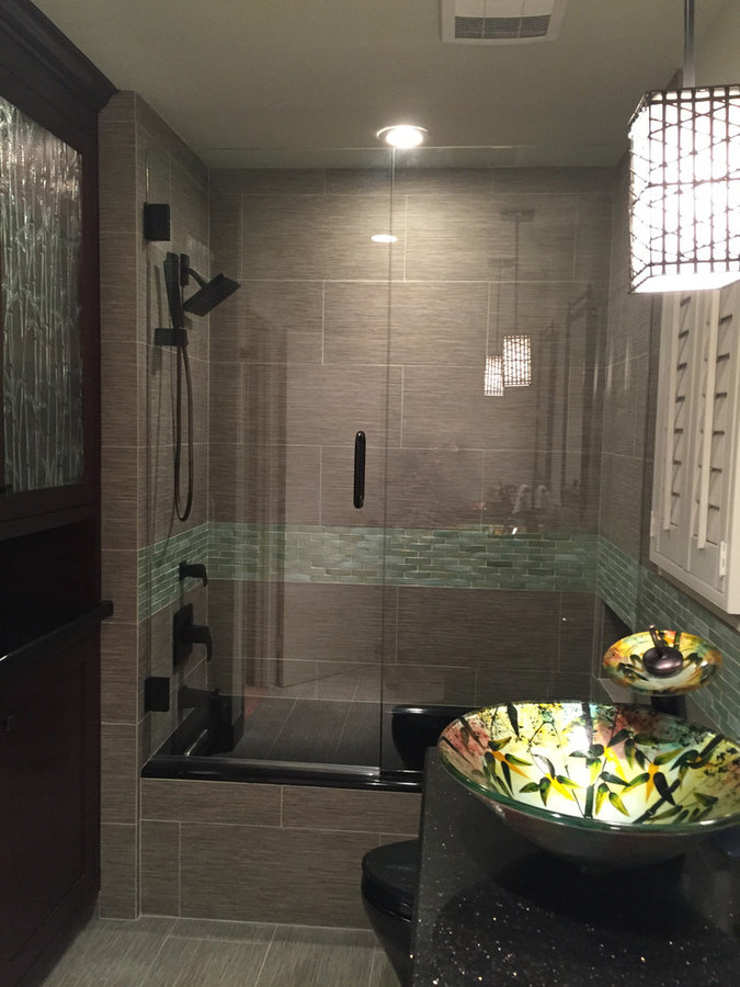Asian inspired bathroom in Torrance