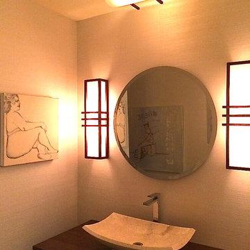 Asian inspired powder room