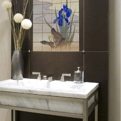 asian bathroom by Pacifica Tile Art Studio