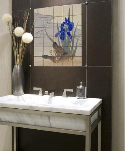 Asian Bathroom by Pacifica Tile Art Studio