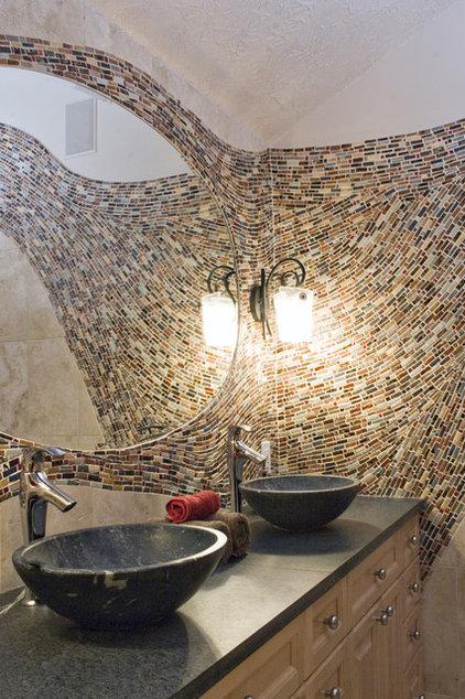 Mediterranean Bathroom by Mercury Mosaics and Tile
