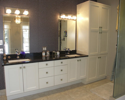 Edmonton bathroom with purple walls ideas designs pictures for Bathroom decor edmonton