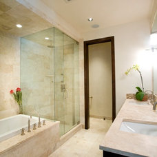 Contemporary Bathroom by Karen White Interior Design