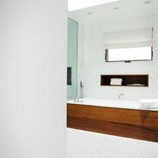 Modern Bathroom by Carole Post Interior Design