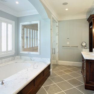 Example of a classic gray floor bathroom design in San Francisco