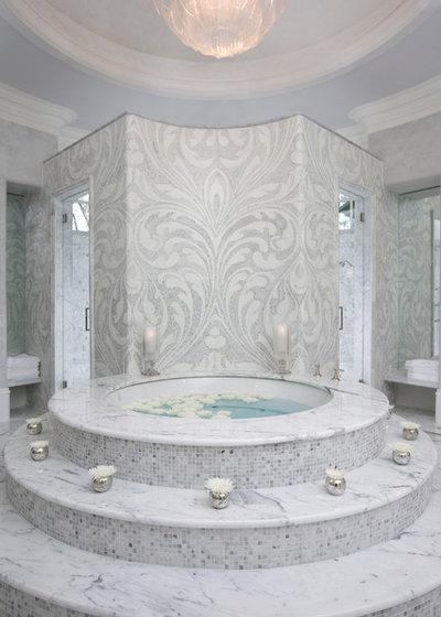 Mediterranean Bathroom by Habachy Designs