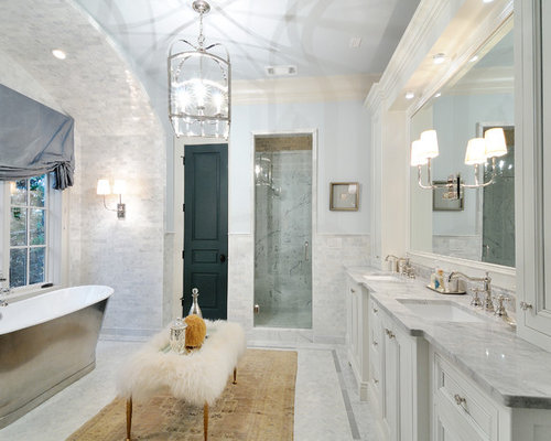 Carrara marble bathroom houzz - Carrara marble bathroom designs ...