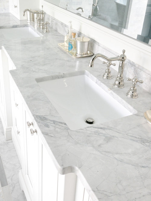 Carrara marble bathroom home design ideas renovations photos - Carrara marble bathroom designs ...