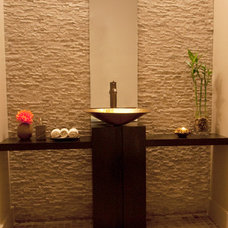 Asian Bathroom by Habachy Designs