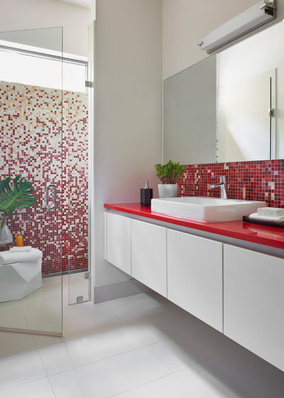Contemporain Salle de Bain by New Mood Design LLC
