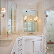 Traditional Bathroom by Kathleen Kellett Interiors