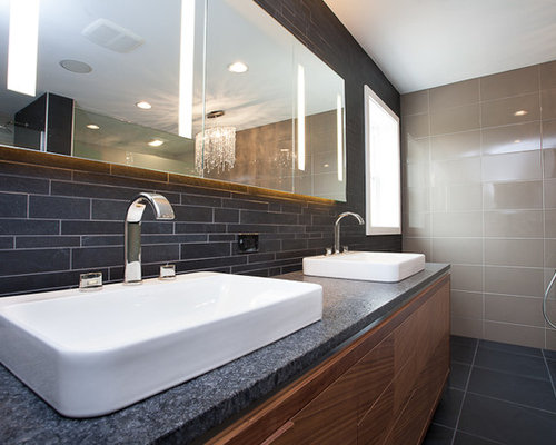 Bathroom Design Ideas Renovations Photos With Matchstick Tile And Mult