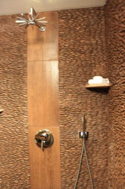 Asian Bathroom by Kelli Kaufer Designs