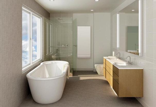 Modern Bathroom by Audrey Matlock Architects