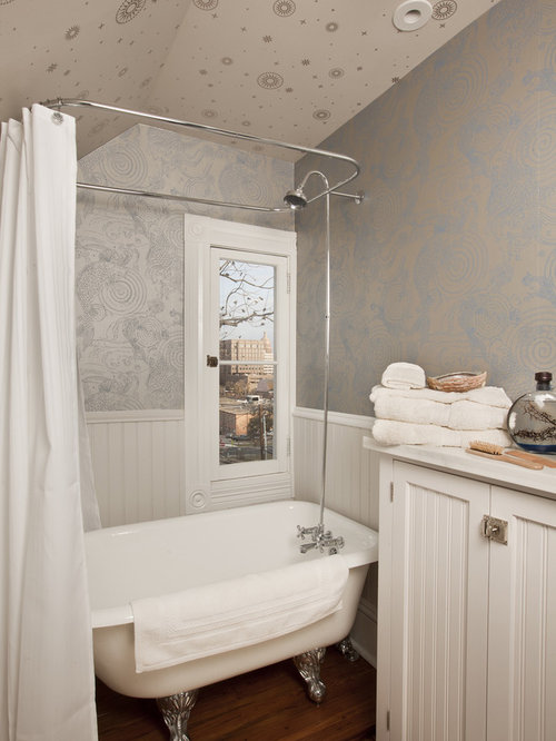 Small bathroom wallpaper houzz for Bathroom wallpaper