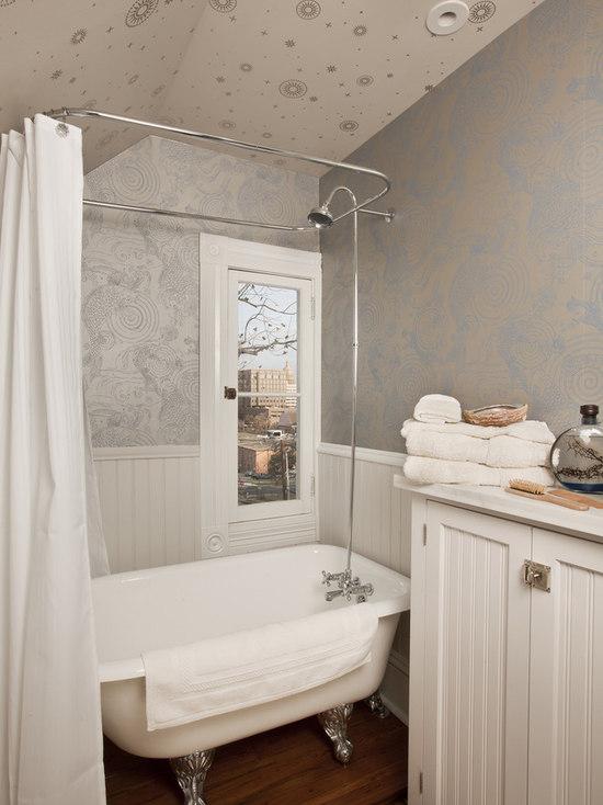 Bathroom Wall Paper small bathroom wallpaper | houzz