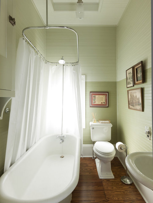 Small bathroom stand up shower houzz for Bathroom ideas victorian