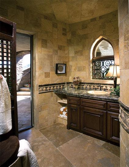Mediterranean Bathroom by Authentic Durango Stone™