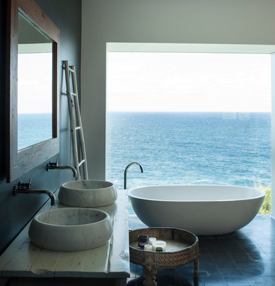 Beach Style Bathroom by Villa and Villa