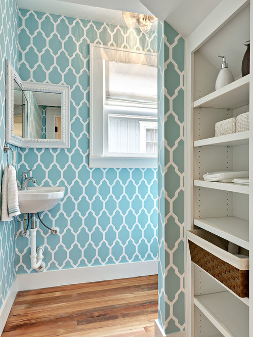 Bathroom Wallpaper Design Ideas & Remodel Pictures | Houzz