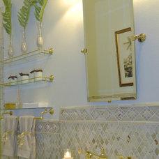 Mediterranean Bathroom by Barbara Krai Interior Design
