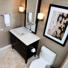 Transitional Bathroom by Sunset Properties of Tampa Bay